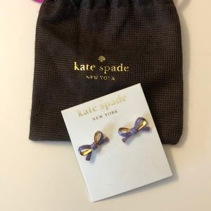 Kate Spade bow lavender earrings